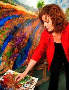 Susan in her studio.